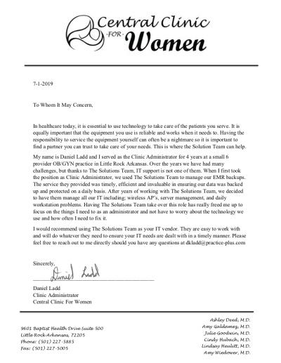 Daniel Ladd Recommendation Letter 2019